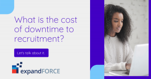 What is the cost of downtime to recruitment?